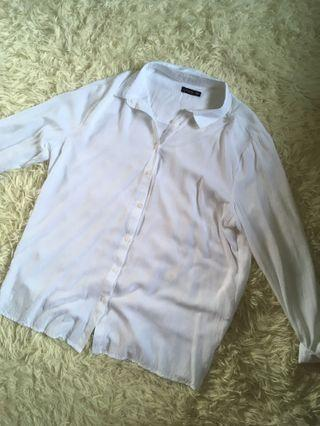 White button up top blouse instock cotton on