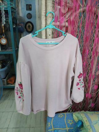 baju pink bunga