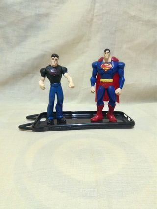 Superman superboy set happy meal Mcdonald