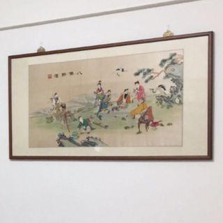 八仙醉酒 中國風 古典 精緻 刺繡畫 掛畫 壁畫 居家裝飾 客廳 房間