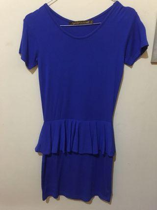 Mididress biru