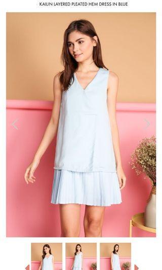 BN TSW Kailin Pleated Layered Hem Dress