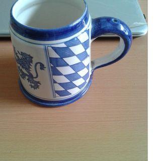 Blue & White Beer Mug