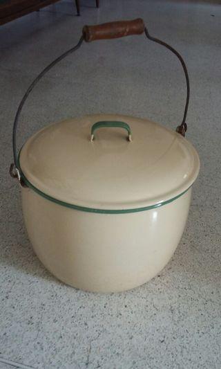 Made in Sweden vintage Kockum enamel pot.