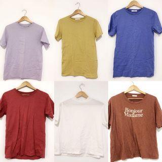 素t shirt ㄧ件都60 都沒在穿出清唷