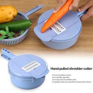 🚚 ⏱Sales • Multifunctional Vegetable Fruit Slicer Cutter Set Round Hand Manual Potato Carrot Grater Chopper Kitchen Tool