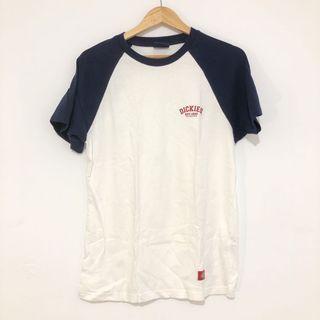 Dickies 正版 韓國購入 棒球T 可愛拼接t shirt 小logo