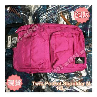 絕版香港行貨 Gregory Twin Pocket Shoulder Bag M Fuchsia 經典斜揹袋 戶外行山旅行袋 Ape Fragment Offwhite Celine Fenom Arcteryx Arro22 Arro22