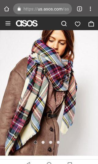 Asos oversized checked scarf #swapAU