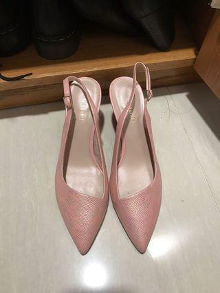 女神鞋 粉紅色 pink le sauda 高踭鞋