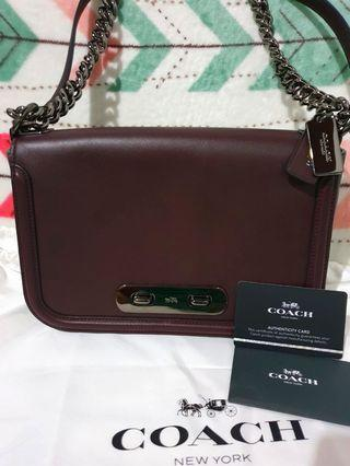 Preloved Coach swagger shoulder Oxblood