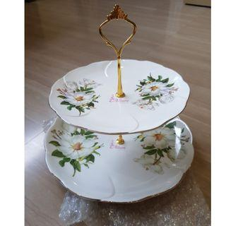 Beautiful 2 tier cake plate stand for party for $10