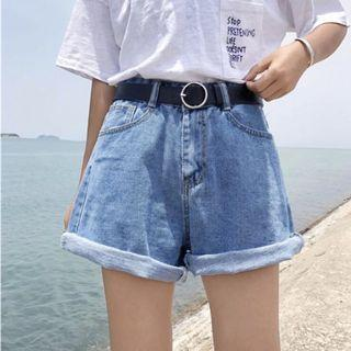 INSTOCK denim hws cuffed shorts