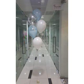 """Cluster Of 6 x 12"""" Latex Balloons (Mixture)"""