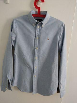 Ralph Lauren light blue women long sleeves shirt