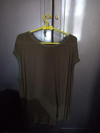 olive green tee