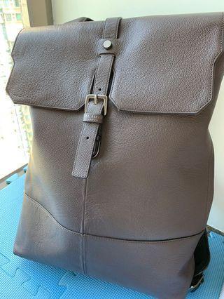 Ted Baker Leather Backpack 真皮背囊 Brown