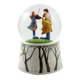 全新幾米音樂水晶球-《向左走·向右走》女孩拉提琴旋轉水球 幾米暢銷創作