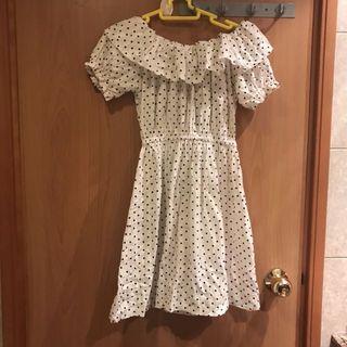 (韓國製)Aland 波點露膊裙/ made in korea dress