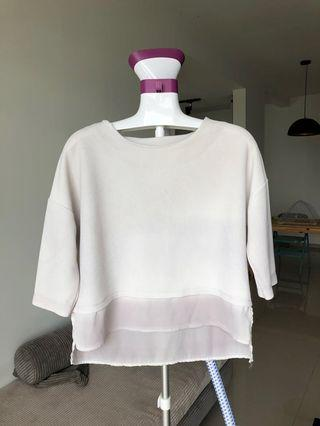 Seed White Crop Top