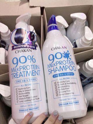 韓國牌子90%牛奶蛋白洗頭水 / 護髮素 1000ml