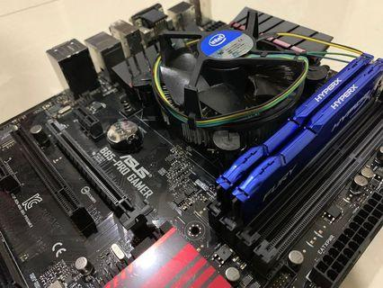 Intel i7-4790 with Asus motherboard ram ram