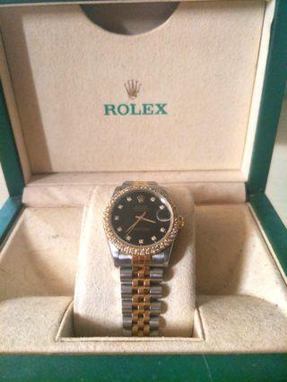 🚚 Rolex Diamond Boy Size 31mm Black