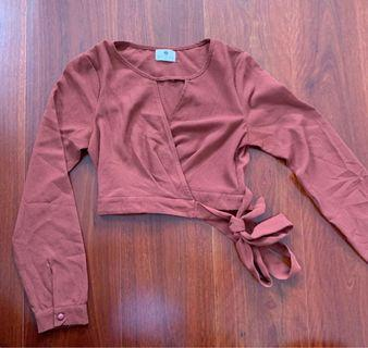 MorningMist Terracotta Wrap Crop Size 6