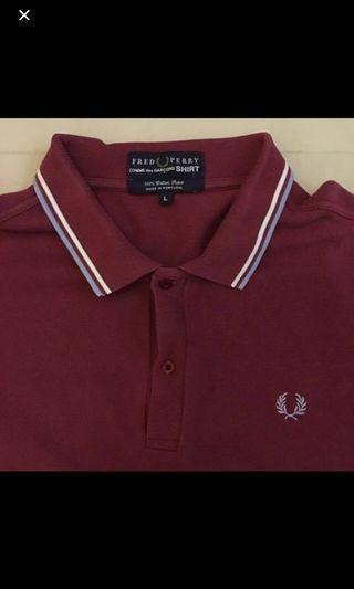 Fred Perry X cross over Comme Des Garcons CDG Polo Shirt