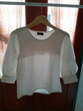 White Top white blouse #mauthr