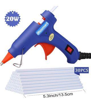 1🔥Hot Glue Gun,Blusmart Upgraded Version Glue Gun with 30pcs Glue Sticks, 20W Mini Hot Glue Gun Blue Fast Heating for DIY Craft Projects and Home Quick Repairs