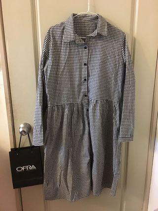 🚚 森林系女孩格紋洋裝
