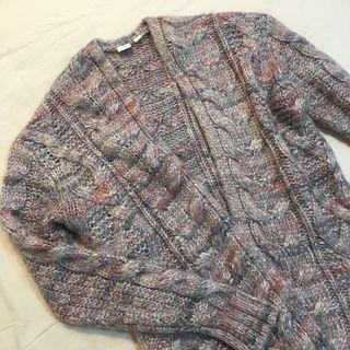 GAP 保暖混色羊毛開襟針織外套