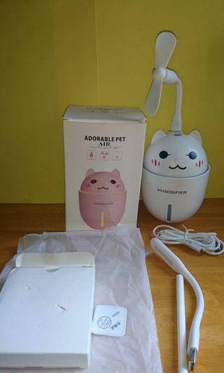 可愛貓貓😺三合—加濕氣器(連Led燈及風扇配件)