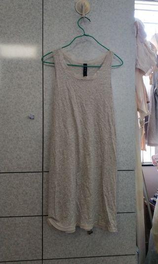 灰色連身背心裙