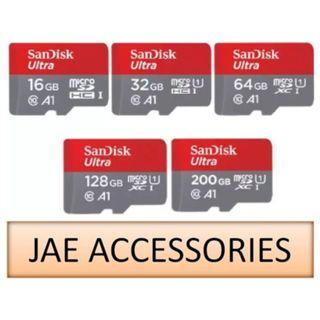 Sandisk A1 16GB to 200GB 98/100MBS UHS-1 MicroSD Card