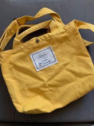 🚚 🚕可愛小黃帆布側背/斜背/手拿包
