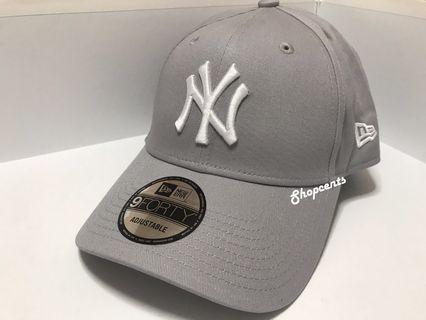 🐘🐘全新New Era灰色白刺繡 Yankees Cap帽