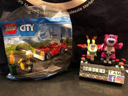 BUILDING INSTRUCTIONS FOR 30347, FIRE CAR, LEGO RECRUITMENT BAGS BOYS