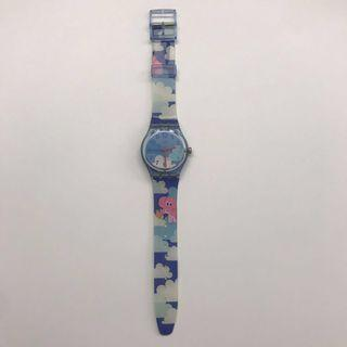 Swatch Watch Pink Elephant Blue Sky with Clouds
