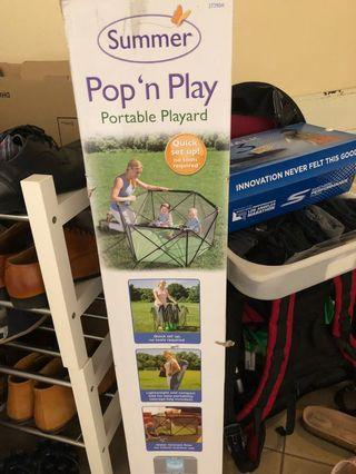 🚚 Pop and play portable play yard