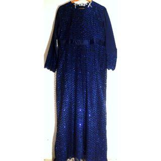 Double Couche Dress In Blue