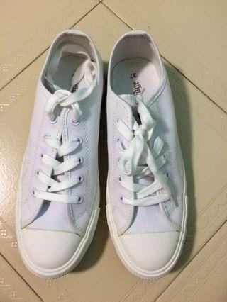 White Canvas Sneakers Size 37