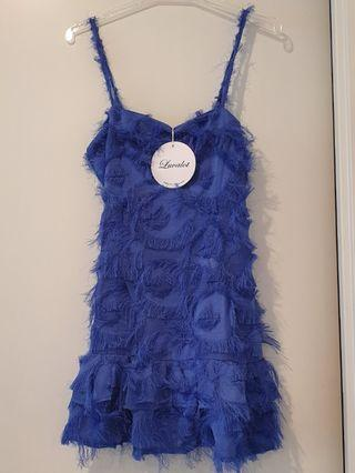 Luvalot Electric Blue Furry Dress 💙