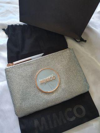 Mimco - Silver Shimmer Small Pouch 🌟