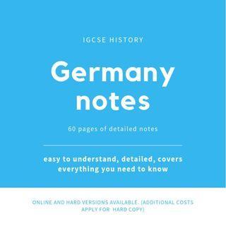 🚚 Germany: History IGCSE