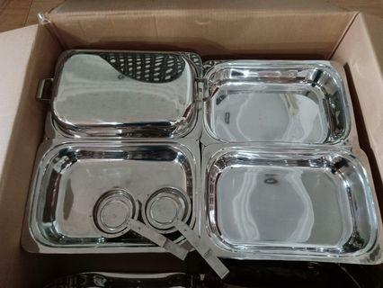 Stainless steel catering set