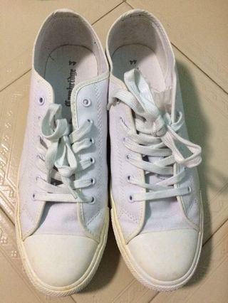 White Canvas Sneakers Size 44