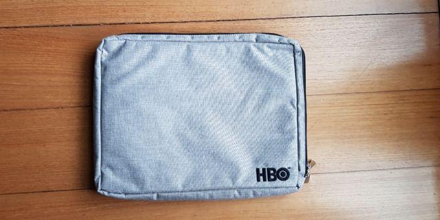 Laptop holder folder sleeve HBO grey neutral computer