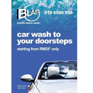 BLAST MOBILE STEAM CAR WASH WE COME TO YOU !